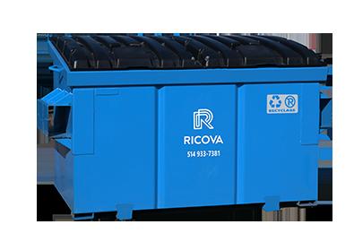 Conteneur recyclage 2 verges